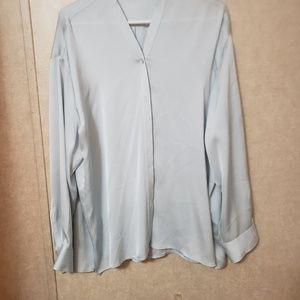 Vince camuto light blue blouse xl